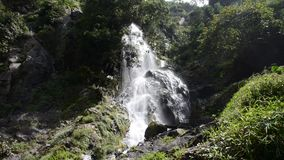Waterfall in tropical rain forest. Krok E Dok waterfall in tropical rain forest, Saraburi Thailand. Nature background stock video