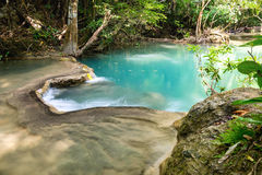Waterfall tropical rain forest scenic natural Stock Photos