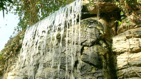 Waterfall in Tropical Rainforest stock video footage