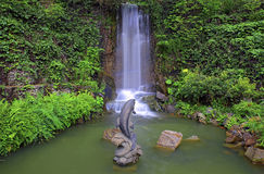 Waterfall in tropical zen garden Stock Photography