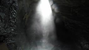 Waterfall of Trummelbach stock video
