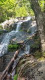 Waterfall on Tumbledown. A view on the way up Stock Photo