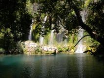 Waterfall Turkey. Side, Turkey Altalya region,waterfall stock photography