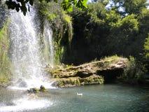 Waterfall Turkey. Side, Turkey Altalya region,waterfall stock images