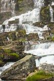 Waterfall Tvindefossen, Norway Stock Photos