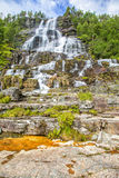 Waterfall Tvindefossen,  Norway. Royalty Free Stock Photography