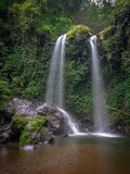 Waterfall. Twin waterfall magelang central java indonesia Stock Image