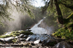 Waterfall in the tyrolean Alps Royalty Free Stock Photo