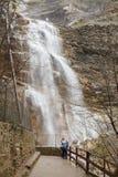 Waterfall uchan-su near Yalta in Crimean mountains Stock Photos