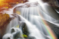 Waterfall in Ukraine - on the Prut River Stock Photos