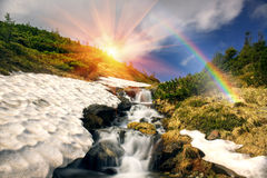 Waterfall in Ukraine - on the Prut River Royalty Free Stock Images