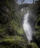 Waterfall Under Bridge, United Kingdom Stock Photography