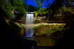 Waterfall under the Lights Royalty Free Stock Images