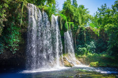 Waterfall Upper Duden. View of the waterfall Upper Duden in the city of Antalya Royalty Free Stock Photography