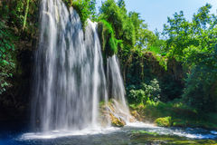 Waterfall Upper Duden. View of the waterfall Upper Duden in the city of Antalya Royalty Free Stock Photos