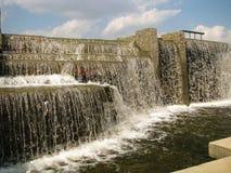 Waterfall in urban parkland. Minsk. Belarus. royalty free stock photo