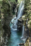 Waterfall in the Val Grande, Piedmont Stock Photography