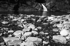 Waterfall in Valchiavenna, Italy Stock Photo
