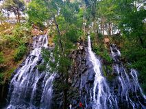 Waterfall in Valle de Bravo Mexico. stock photos