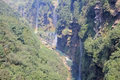 Waterfall valley Stock Photography