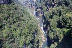 Waterfall valley Stock Photos