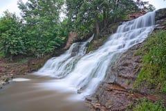 Waterfall Valley Dzhurin. Stock Image
