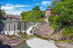 Waterfall in Vanhankaupunginkoski, Helsinki Royalty Free Stock Photos