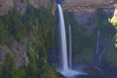 Waterfall Velo de la Novia - Maule,智利 库存照片