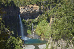 Waterfall Velo de la Novia - Maule, Chile Fotografía de archivo