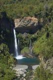 Waterfall Velo de la Novia - Maule, Chile Lizenzfreies Stockfoto