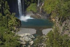 Waterfall Velo de la Novia - Maule, Cile Fotografie Stock Libere da Diritti