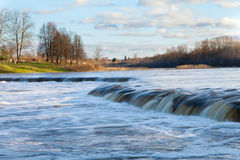 Waterfall on Venta river, Latvia.