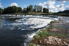 Waterfall Ventas rumba, Kuldiga, Latvia. Royalty Free Stock Images