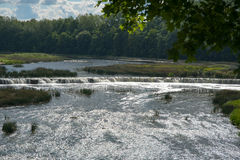 Waterfall Ventas rumba, Kuldiga, Latvia. Royalty Free Stock Images