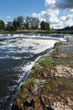 Waterfall Ventas rumba, Kuldiga, Latvia. Stock Image