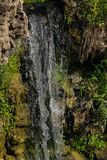 Waterfall Ventas Rumba on river Venta at Kuldiga, Latvia, selective focus, shallow DOF stock images