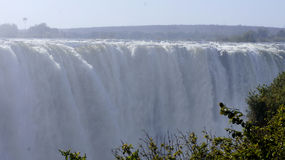 Waterfall Victoria on the Zambezi River , Zimbabve,  Africa. Royalty Free Stock Photos