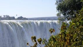 Waterfall Victoria on the Zambezi River , Zimbabve,  Africa. Stock Photo