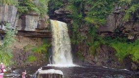 Waterfall video. Spectacular waterfall on the Ingleton Waterfalls Trail, Ingleton, North Yorkshire, UK stock video