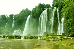 Waterfall in Vietnam royalty free stock images