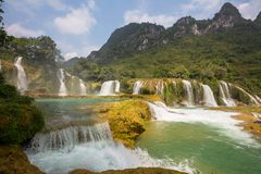 Waterfall in Vietnam Royalty Free Stock Photo