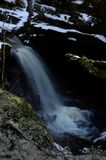 Waterfall - A view of the Falls of Bruar in Perthshire. A view of a waterfall at the falls of Bruar in rural Perthshire Stock Images