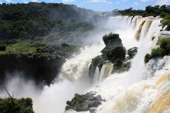 Waterfall view in Iguazu Falls Stock Photo