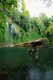 Waterfall view in kursunlu antalya Royalty Free Stock Image
