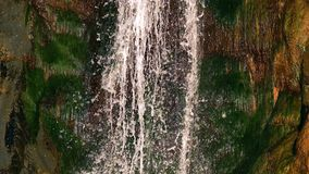 Waterfall view in wild nature stock footage