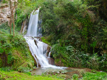 Waterfall in Villa Gregoriana Stock Photo
