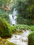 Waterfall in Villa Gregoriana Royalty Free Stock Photography