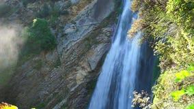 Waterfall in villa gregoriana stock video footage