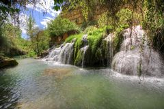 Waterfall in Vinalopo river Royalty Free Stock Photos