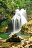 Waterfall, Vintgar Canyon, Slovenia Stock Photos